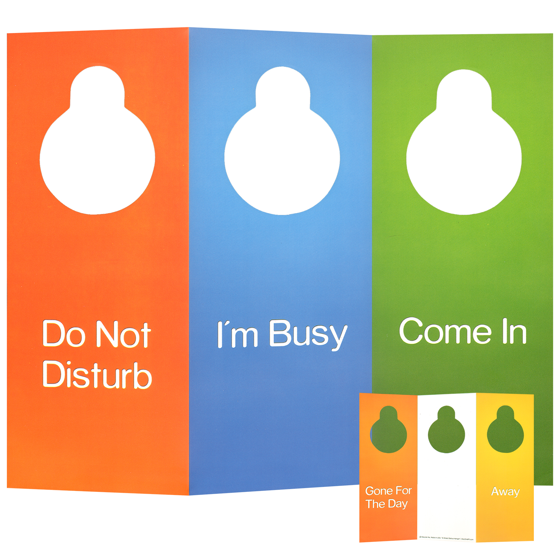 multi sided door hanger 6 sided foldable do not disturb sign free