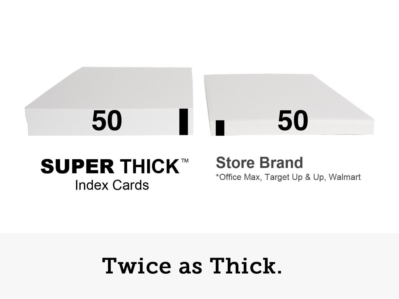 5 u00d78 super thick index cards  50 5 u2033x8 u2033  blank  50 pack
