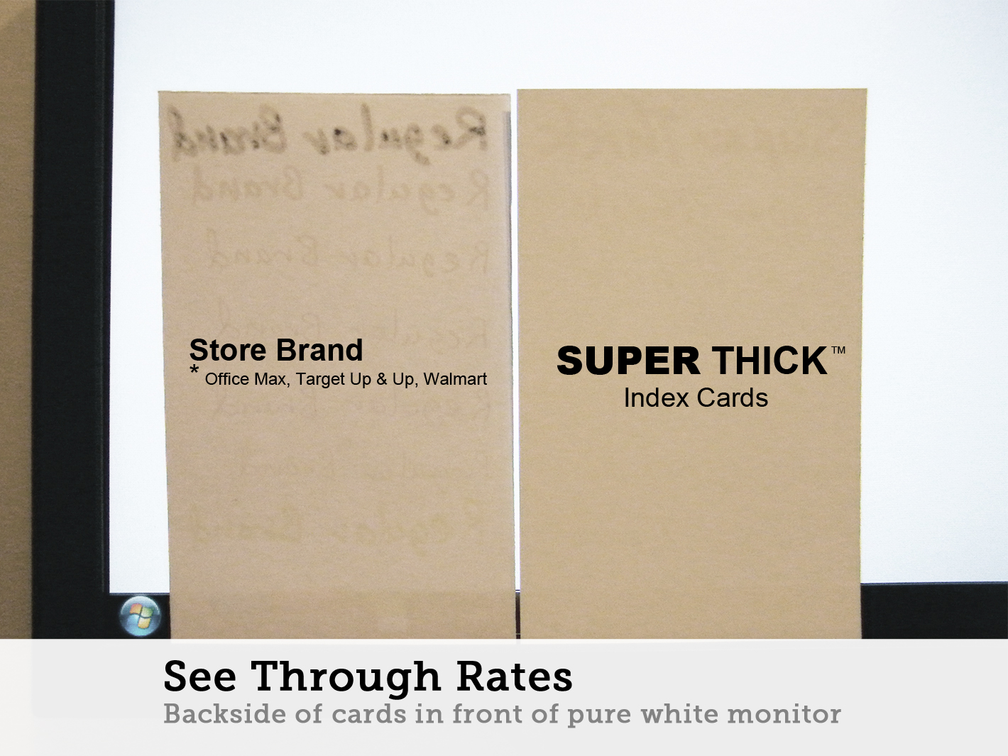 35 super thick index cards 100 3x5 blank 100 pack